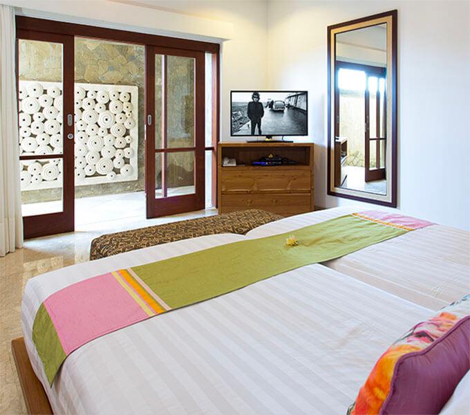 Villa Bayu Gita Beachfront - Downstairs back bedroom