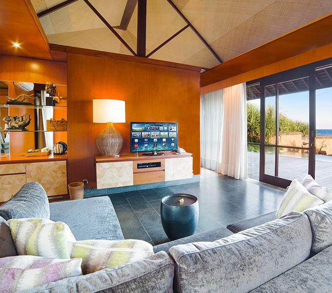 Villa Bayu Gita Beachfront - Living area